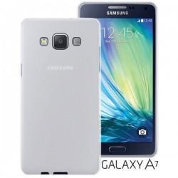 Silikon etui Jekod za Samsung Galaxy A7 Priložena Folija ekrana TPU Prozorno Bela Mat barva