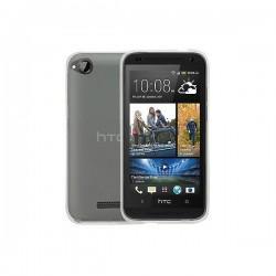 Silikon etui za HTC Desire 320 TPU 0,3mm Transparent barva+folija ekrana