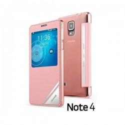 Torbica USAMS za Samsung Galaxy Note 4 S-View Pink barva