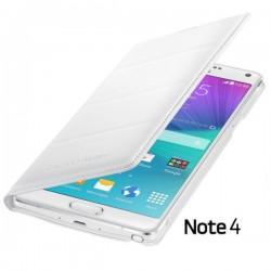 Torbica za Samsung Galaxy Note 4 Original Flip Cover EF-WN910BWE Bela barva