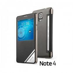 Torbica USAMS za Samsung Galaxy Note 4 S-View Črna barva