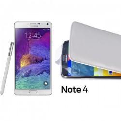Preklopna Torbica za Samsung Galaxy Note 4+folija ekrana Bela barva