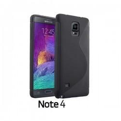 Silikon etui za Samsung Galaxy Note 4 +Folija ekrana Črna barva