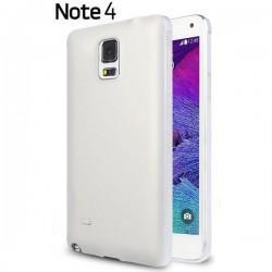 Silikon etui za Samsung Galaxy Note 4 +Folija ekrana Prozorno Bela