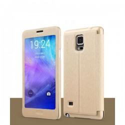 Etui za Samsung Galaxy Note 4 Touch View Zlata barva