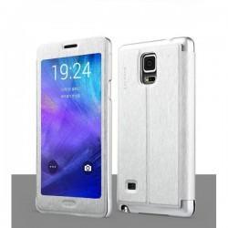 Etui za Samsung Galaxy Note 4 Touch View Srebrna barva