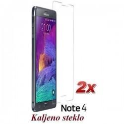Zaščitno kaljeno steklo za Samsung Galaxy Note 4 Trdota 9H 0,3 mm Duo Pack Premium
