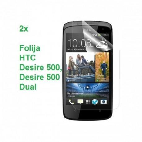 Zaščitna Folija ekrana za HTC Desire 500, Duo pack