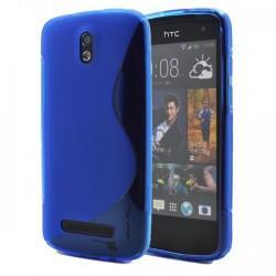 Silikon etui za HTC Desire 500, + folija ,Modra barva