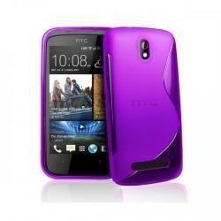 Silikon etui za HTC Desire 500 +zaščitna folija ,Vijola barva