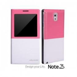 Torbica za Samsung Galaxy Note 3 View Design Bela-Pink barva