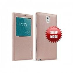 Torbica za Samsung Galaxy Note 3 Window View Design Champagne Pink barva