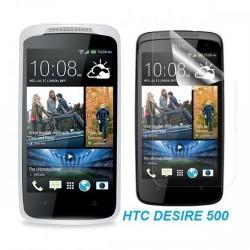 Silikon etui za HTC Desire 500 +Folija ekrana, transparentno svetla
