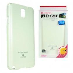 Silikon etui za Samsung Galaxy Note 3 + 2x Folija High-Quality ,Bela barva