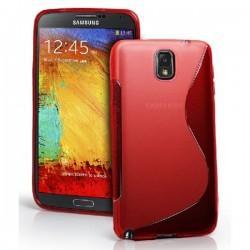 Silikon etui za Samsung Galaxy Note 3 +Folija ekrana. Rdeča barva