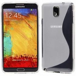 Silikon etui za Samsung Galaxy Note 3 +Folija ekrana. Transparent barva