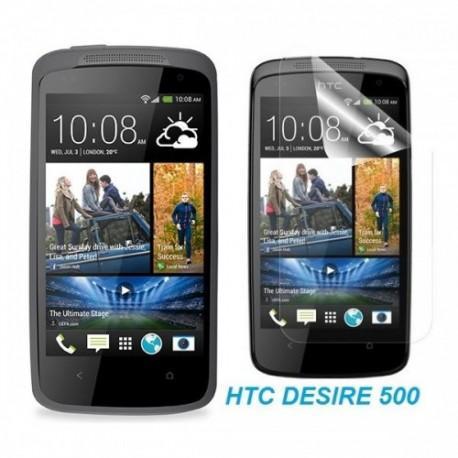 Silikon etui za HTC Desire 500, transparent temna+Folija ekrana