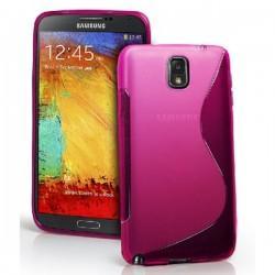 Silikon etui za Samsung Galaxy Note 3 +Folija ekrana. Pink barva
