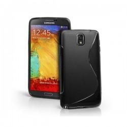 Silikon etui za Samsung Galaxy Note 3 +Folija ekrana. Črna barva