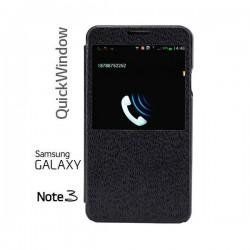 Etui za Samsung Galaxy Note 3 Flip Case ,View Črna barva