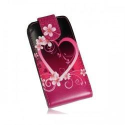 Torbica za HTC Desire 500 Preklopna + Zaščitna folija ekrana ,Lady - Heart
