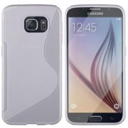 Silikon etui za Samsung Galaxy S6+Folija ekrana Bela barva
