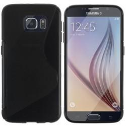 Silikon etui za Samsung Galaxy S6+Folija ekrana Črna barva