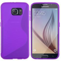 Silikon etui za Samsung Galaxy S6+Folija ekrana Vijola barva