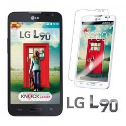 Silikon etui za LG L90 +Folija ekrana Prozorno temna barva