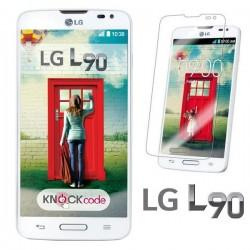 Silikon etui za LG L90 +Folija ekrana Prozorno bela barva