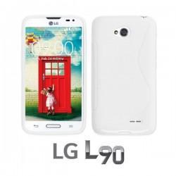 Silikon etui za LG L90 ,Bela barva