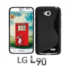 Silikon etui za LG L90 Črna barva
