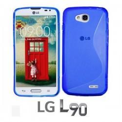 Silikon etui za LG L90 Modra barva