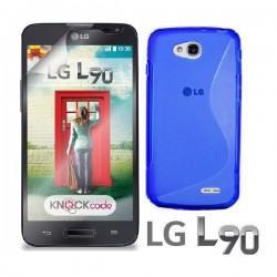 Silikon etui za LG L90 +Folija ekrana, Modra barva