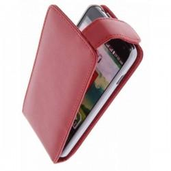 Torbica za LG L90 Preklopna+Zaščitna folija ekrana ,Rdeča