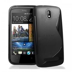Silikon etui za HTC Desire 601 ,Črna barva