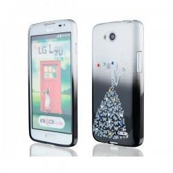 Silikon etui za LG L90 +Folija ekrana Lady Črna