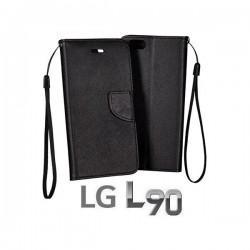 Torbica Fancy za LG L90 Črna barva