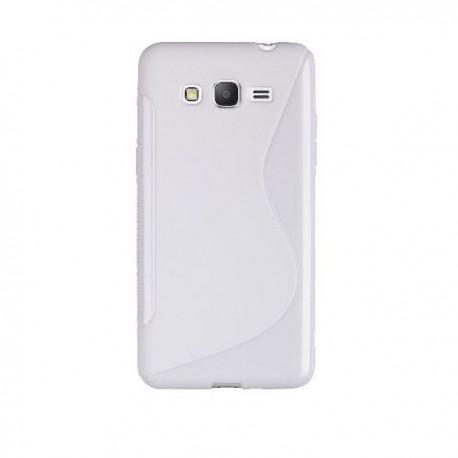 Silikon Etui za Samsung Galaxy Grand Prime Bela barva
