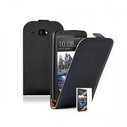Torbica za HTC Desire 601 Preklopna+ zaščitna folija ekrana, Črna barva