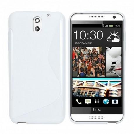 Silikon etui za HTC Desire 610 +Folija ekrana Bela barva