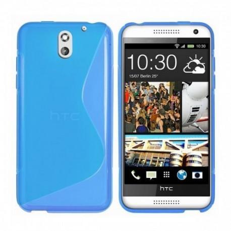 Silikon etui za HTC Desire 610 +Folija ekrana Modra barva