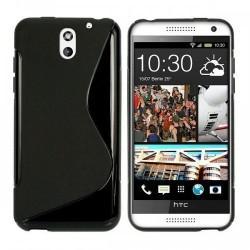 Silikon etui za HTC Desire 610 +Folija ekrana Črna barva