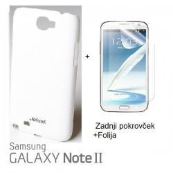 Etui za Samsung Galaxy Note II ,N7100 Zadnji pokrovček +Folija, bela barva
