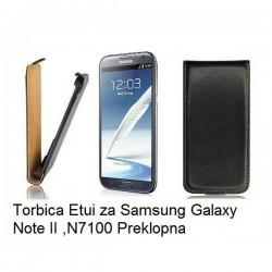 Torbica za Samsung Galaxy Note II ,N7100 Preklopna, črna barva
