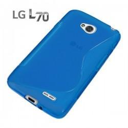 Silikon etui za LG L70 +Folija ekrana, Modra barva