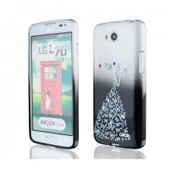 Silikon etui za LG L70 +Folija ekrana Lady Črna
