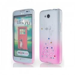 Silikon etui za LG L70 +Folija ekrana Lady Pink