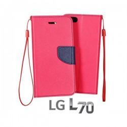 Torbica Fancy za LG L70 Pink barva