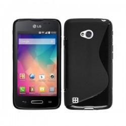 Silikon etui za LG L50 +Folija ekrana Črna barva